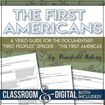 """The First Americans Graphic Organizer for PBS """" First Peoples"""""""