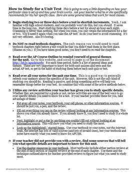 Lesson Three--Preparing for a Unit Test from APUSH Writing and Skills Handbook