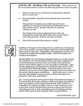 Lesson Three--Preparing for a Unit Test from the AP Euro Writing and Skills HB