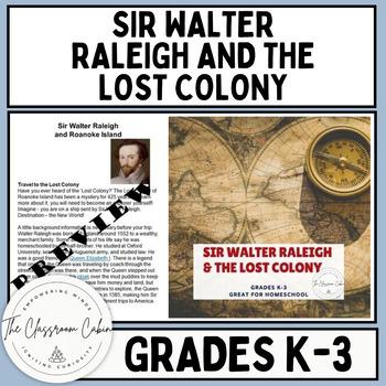 Sir Walter Raleigh American History for Homeschool Grades K-3