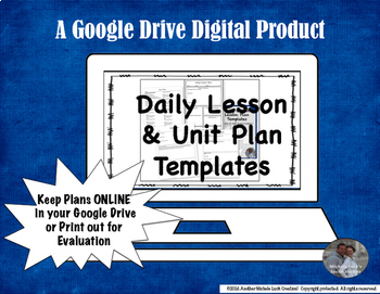 Lesson & Unit Plan Google Drive Templates for Middle or High School