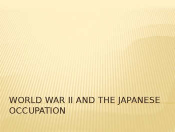 Lesson - World War II in the Philippines