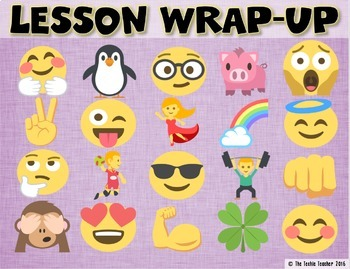 emoji themed lesson wrap up activity in google slides by the techie