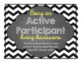 Lesson and Classroom Poster- Being an active participant