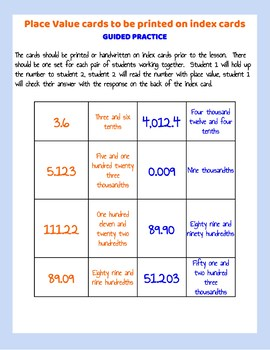 Lesson and Video: Read and Write Numbers Using Place Value Lesson Plan