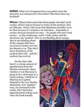Lesson for Ms. Marvel #1 (2014)