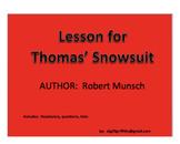 Lesson for Thomas' Snowsuit