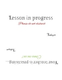 Lesson in Progress Sign