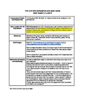 Lesson on Air Density/Air Pressure