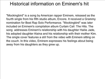 Lesson on Eminem's Mockingbird for Ukulele