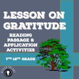 Lesson on Gratitude