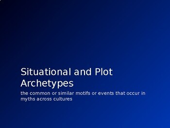 Lesson on Situational and Plot Archetypes in Mythology