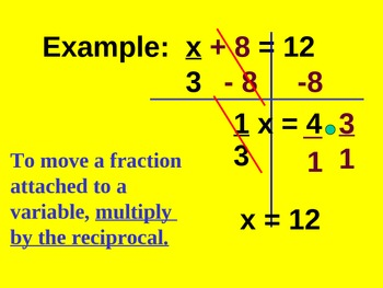 Lesson on Solving Two step linear equations- Powerpoint  Common Core 7.EE.B.4.A