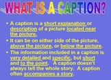 FREEBIE Lesson on Writing Captions