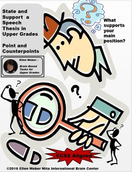 Lesson on Writing Thesis Supports - CCSS Aligned