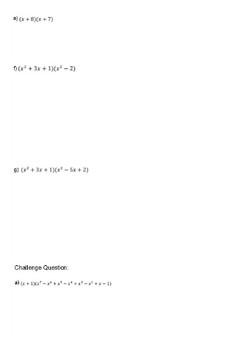 Lesson on multiplying Algebraic Expressions