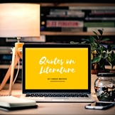 Writing prompts - Quotes on literature and reading with qu