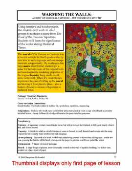 """Lesson plan.  A Study of Medieval Tapestry - """"...Unicorn in Captivity"""""""