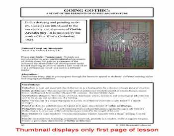 Lesson plan.  A Study of the Elements of Gothic Architecture
