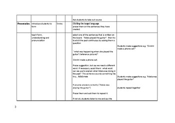 Lesson plan  A2  (Late elementary/ pre-intermediate)