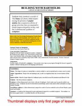 "Lesson plan.  Building With Bartholdi: ""The Statue of Liberty"""