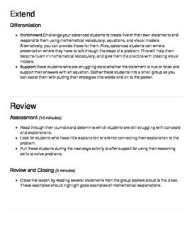 Lesson plan Grade 5: Math Classroom Challenge - Decimals