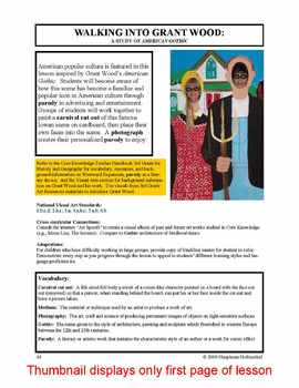 """Lesson plan.  Grant Wood:  A Study of """"American Gothic"""""""