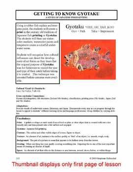Lesson plan.  Gyotaku:  A Study of Japanese Fish Painting