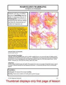 Lesson plan.  Marbling:  The Japanese Art of Suminagashi