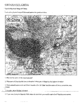 Lesson plan Middle Ages: China Geography , Mandate of Heav