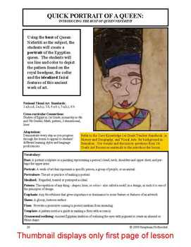 """Lesson plan.  Portrait of a Queen:  """"The Bust of Queen Nefertiti"""""""