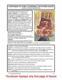 "Lesson plan. ""The Cathedral of Notre Dame"""