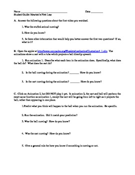 Lesson plan and activities reference frames and relative motion