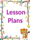 Lesson plan binder covers [editable]