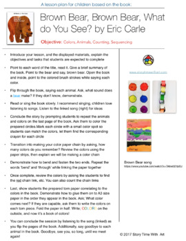 Lesson plan for Brown Bear Brown Bear What do you See by Eric