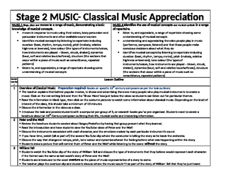 Lesson plan for Classical Music Appreciation