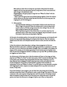 """Lesson plan for """"cups"""" improv/arrangement project"""