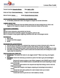 Lesson plan on glossary and index usage