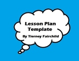Lesson plan template:  Common Core Standards, Bloom's, Mar