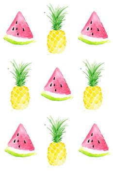 Lesson plan template Pineapple and watermelon theme