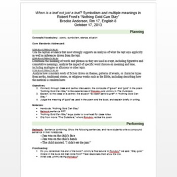 Lesson plan template, annotated and thorough, with samples, secondary ed.