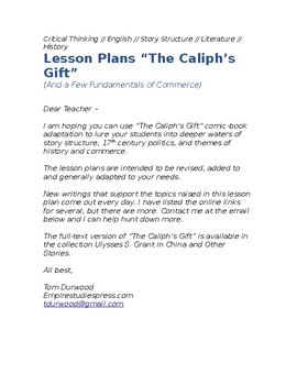 """Lesson plans """"The Caliph's Gift"""""""