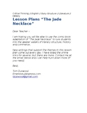 "Lesson plans ""The Jade Necklace"""