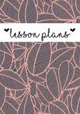 Lesson plans cover page