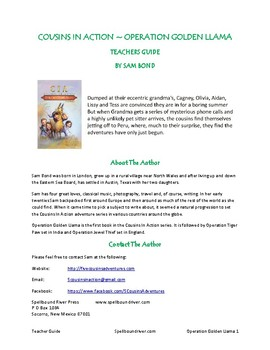 Lesson plans for Operation Golden Llama, a middle grade adventure