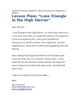 "Lesson plans to accompany ""Love Triangle in the High Sierras"""
