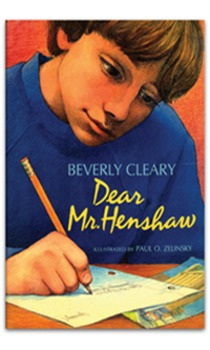 Lesson plans to teach Dear Mr. Henshaw by Beverly Clearly