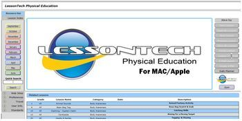 LessonTech Physical Education Lesson Planner App for MAC (Download)