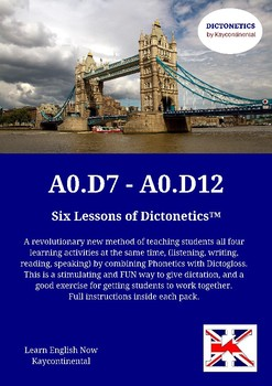 A0.D7 to A0.D12 - Six lessons of Dictonetics.