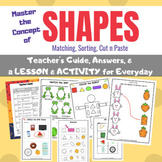 Math-Center Lessons & Activities of SHAPES -  for Pre-K, K